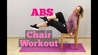 Cvičení se židlí - cviky na břicho