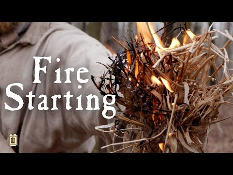 Fire Starting: No Matches, No Lighter - The American Frontier