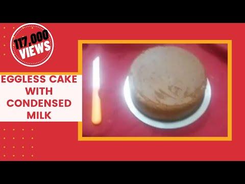 Video Eggless Condensed Milk Cake Recipe