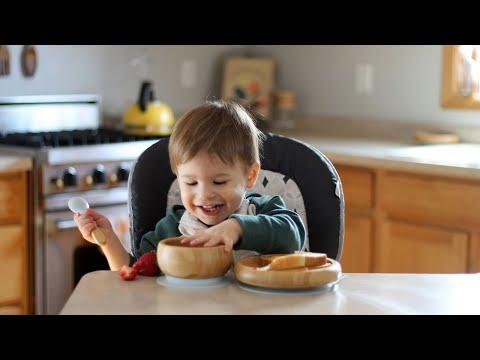 وعاء طعام للاطفال من خشب البامبو الطبيعي وقاعدة سيليكون لمنع الانزلاق بالوان متعددة   Avanchy
