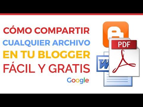 Cómo compartir documentos en Blogger