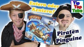 Pingo Splash Piraten Pinguine Geschicklichkeits Spiel Spielzeug auspacken und spielen Kinderkanal