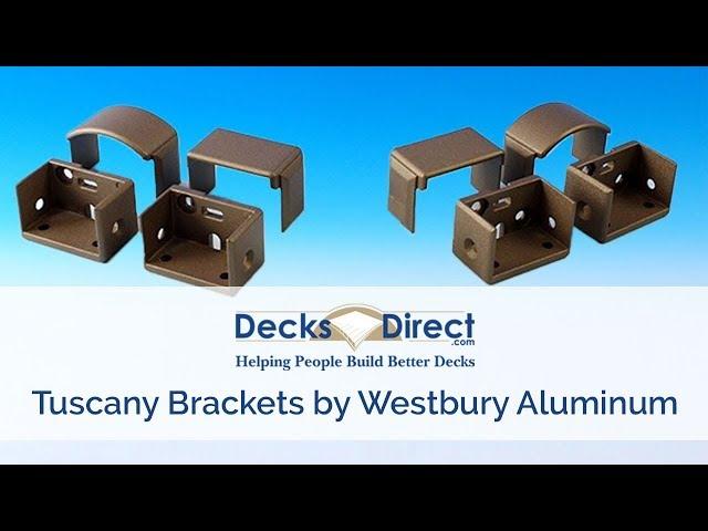 Tuscany Brackets for Westbury Aluminum Railing-Black Fine Texture-Wall Mount