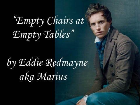 Play on youtube  sc 1 st  Last.fm & Empty Chairs At Empty Tables u2014 Eddie Redmayne | Last.fm