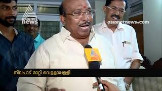 Vellappally Natesan changed stand in Thushar candidature