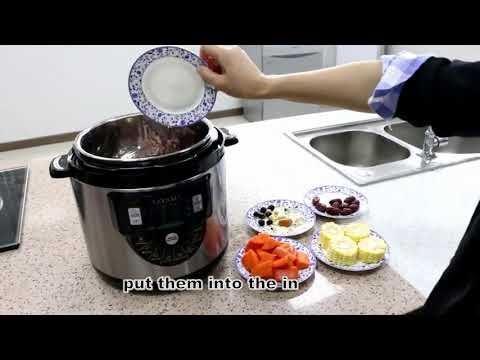, Tayama TMC-60XL 6 quart 8-in-1 Multi-Function Pressure Cooker, Black