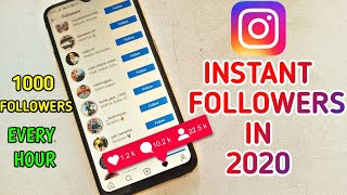 How To Get Instant Free followers On Instagram In 2020!| 1000 Followers Every Hour *LIVE PROOF*