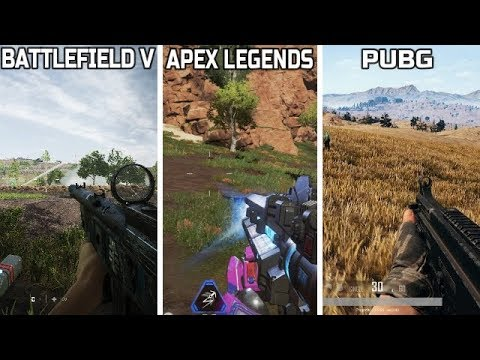 BATTLEFIELD V (Firestorm) VS APEX LEGENDS VS PUBG - GAMEPLAY COMPARISON ** WHICH IS THE BEST **