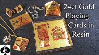 Casting 24 Carat Gold Playing Cards in Resin with AMAZING results