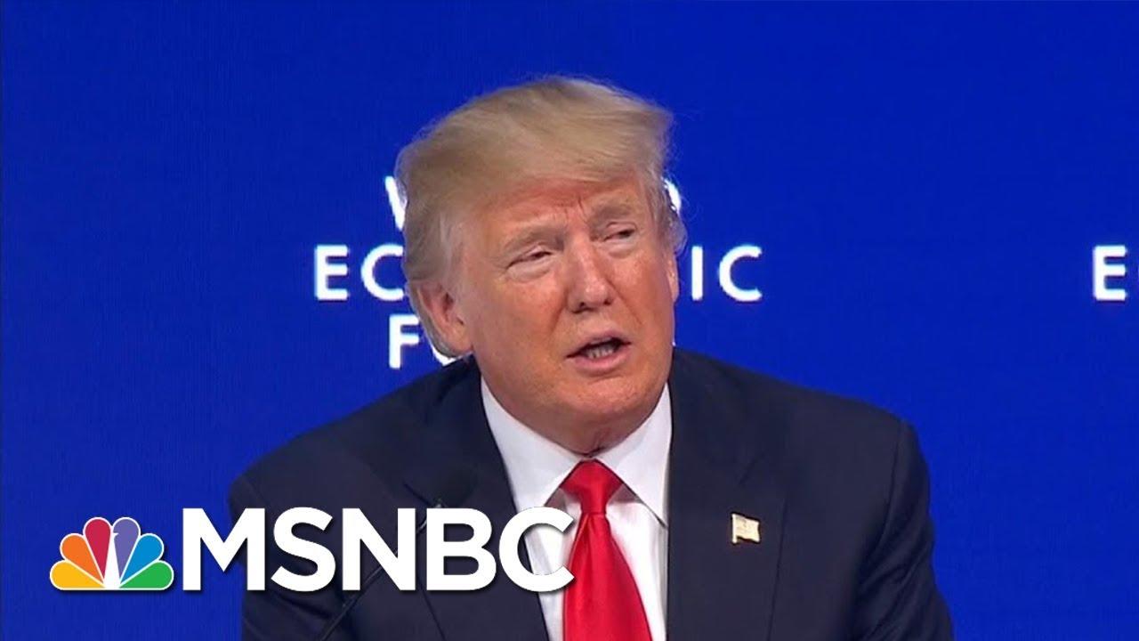 President Donald Trump Addresses World Economic Forum In Davos | Morning Joe | MSNBC thumbnail