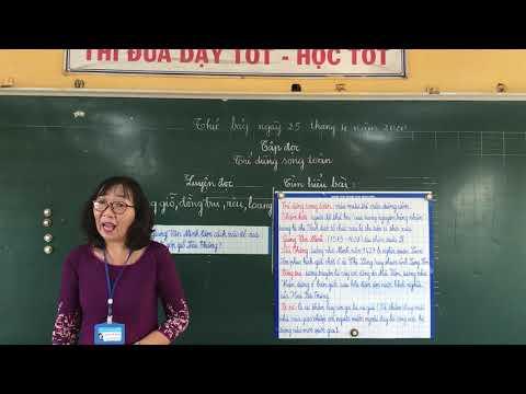 Môn Tập đọc lớp 5, bài Trí dũng song toàn (Gv Trương Thị Thu Mai, Trường TH C Phú Mỹ)