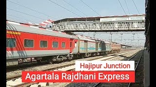 preview picture of video '20502 Agartala Rajdhani Express (ANVT - Agartala) Slowly Passing From Hajipur Junction'