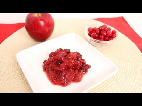 Cherry Apple Cranberry Sauce Recipe – Laura Vitale – Laura in the Kitchen Episode 668