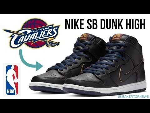 The 'Cavaliers' NBA x Nike SB Dunk  Featuring wear away paint to reveal team colors