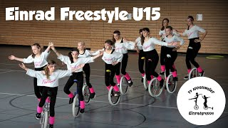 preview picture of video 'Einrad Freestyle Gruppenkür U15 Flashdance'
