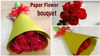 How To Make Paper Rose Flower Bouquet | DIY | Paper Craft