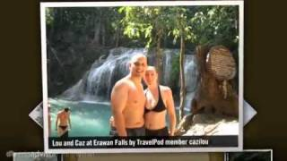 preview picture of video 'Erawan National Park and Elephant Trek Cazilou's photos around Kanchanaburi, Thailand'
