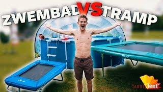 TRAMPOLINE NAAR ZWEMBAD! | Boazvb