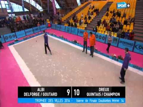 pétanque 16éme Trophée des villes 2015 Dreux vs Albi