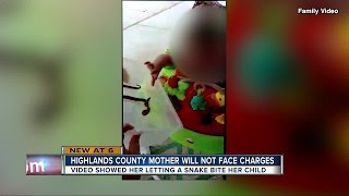 Highlands mother who allowed snake to bite baby will not face charges