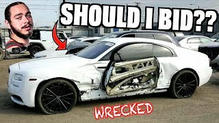 Should I Bid On Post Malone's WRECKED Rolls Royce at Salvage Auction?!   Kholo.pk