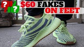 How Do $60 FAKE YEEZYS Feel ON FEET?