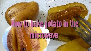 how to cook baked potatoes in microwave and oven