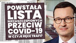 Powstaje lista osób niezaszczepionych przeciw Covid-19! Analiza Rozporządzenia Rady Ministrów!