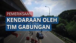 Kondisi Tol Jakarta-Cikampek Lengang, Kendaraan yang Melintas Diperiksa oleh Petugas Gabungan