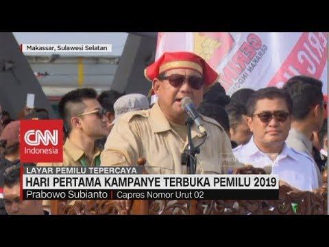 Hari Pertama Kampanye Terbuka Pemilu 2019