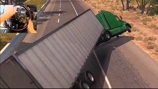 American Truck Simulator  w/Wheel Rig + Ebrake MOD Horn - We Owe A lot..