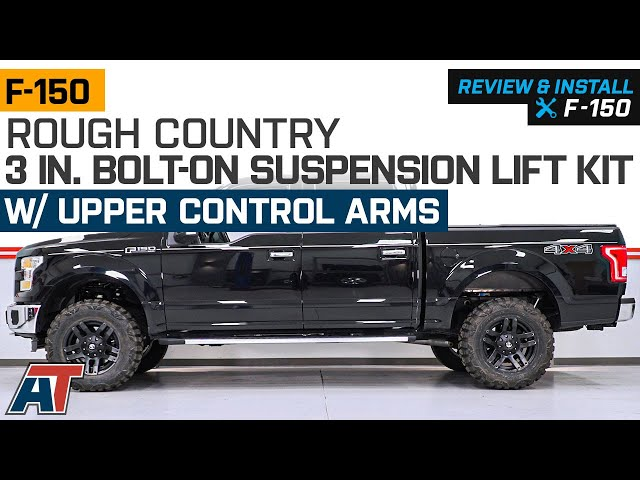 Rough Country 3 in  Bolt-On Suspension Lift Kit w/ Upper Control Arms  (14-19 4WD F-150, Excluding Raptor)