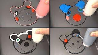 ROBLOX PIGGY JUMPSCARES EMOJI Logo PANCAKE ART 3 - PIGGY, CLOWNY, DINOPIGGY, ROBBY