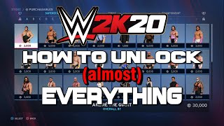 WWE 2K20 - How To Unlock (almost) Everything Tutorial