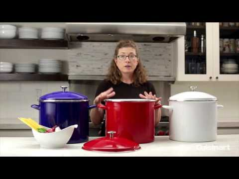 Chef's Classic™ Enamel on Steel 20 Quart Stockpot Demo (EOS206-33)