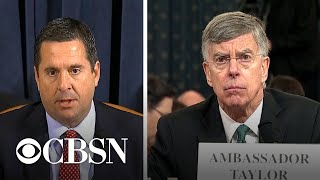 Devin Nunes begins Republican questioning of Taylor and Kent