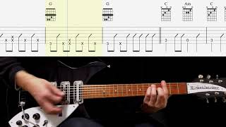 Guitar TAB : Cry For A Shadow (Rhythm Guitar) - The Beatles