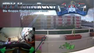 FPV 206 - MiniHD Brushless HomeRacer, Test EF01 mini FPV Cam Outdoor