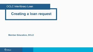 Creating a loan request