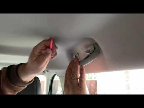 Как снять потолочную ручку