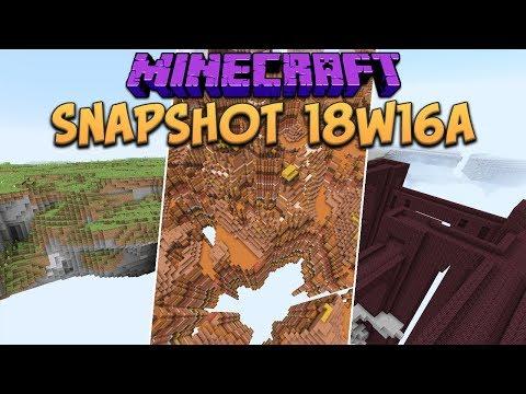 Minecraft 1.13 Snapshot 18w16a New Custom World Generation