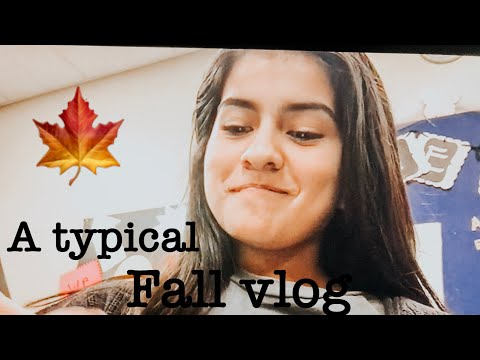 A typical Fall vlog