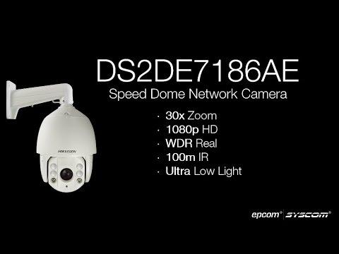 HIKVISION DS2DE7186AE 1080p HD 30x Zoom Camara Domo IP PTZ