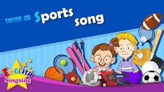 Theme 28. Sports song - I like baseball | ESL Song & Story - Learning English for Kids