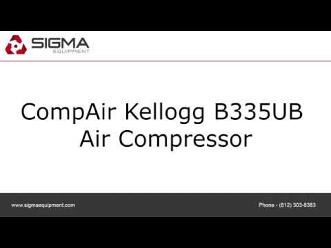 Used CompAir Kellogg B335UB 80 Gal 5 HP Air Compressor