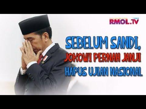 Sebelum Sandi, Jokowi Pernah Janji Hapus Ujian Nasional