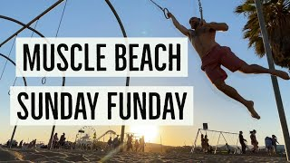 Calisthenics, Acrobatics, Flying Rings, Slacklining, Tricklining at Muscle Beach