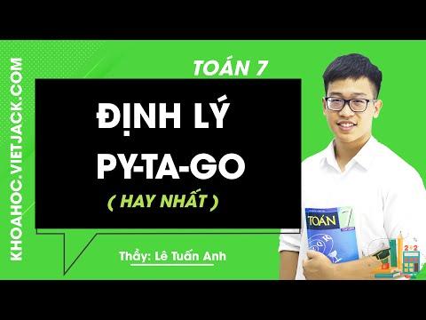 Toán 7- Bài 7 : Định lý PitaGo