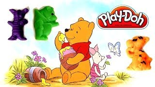 Play-Doh Winnie the Pooh Tigger Eeyore Piglet Christopher Robin Play Dough Adventures of Pooh Bear