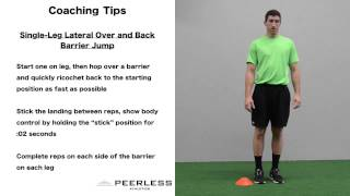 618. Single-Leg Over and Back Lateral Jump